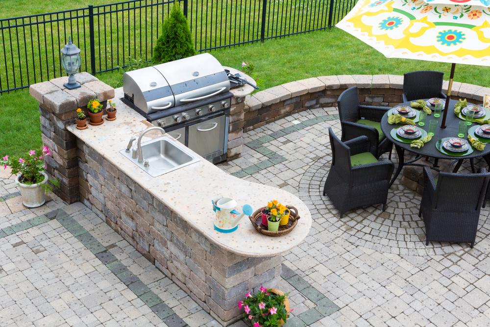 granite outdoor kitchen countertops